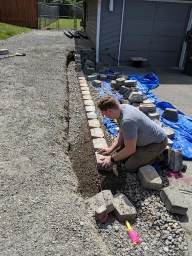 retaining wall_in progress